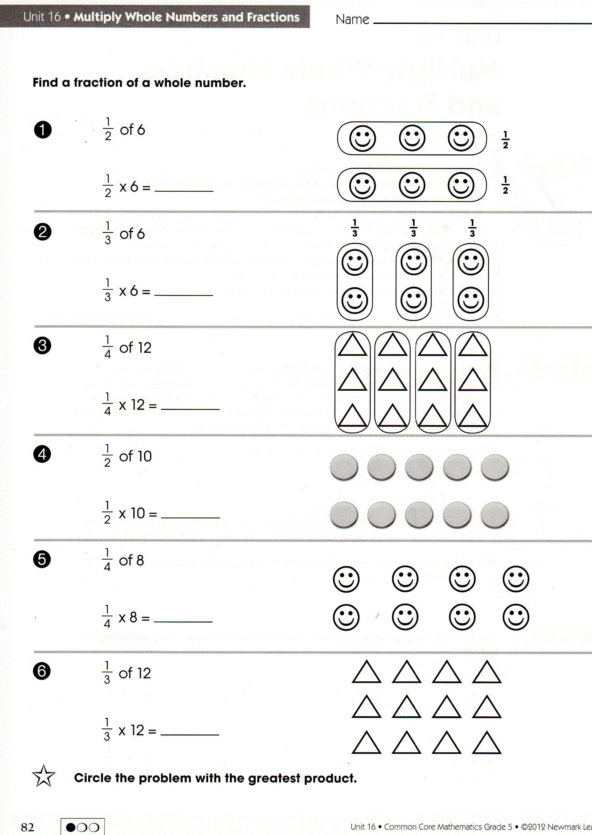 Fraction Times A Whole Number Worksheet dividing fractions by – Multiply Fraction by Whole Number Worksheet